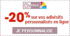 My Cenpac print -20% sur votre 1ère commande d'adhésif en ligne